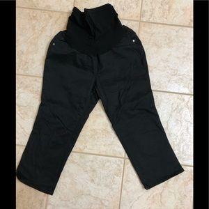 Black Maternity Capri Pants